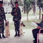 Dogs are getting training from Dr. Khan